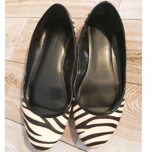 Banana Republic Leather Animal Zebra Print Flats